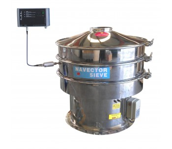 Circle Ultrasonic Vibration Sieve Shaker Machine for Chemical Powders SS304 supplier